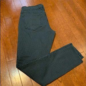 Old Navy Rockstar Navy/Polka Dot Skinny Jeans